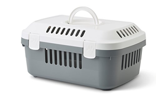 SAVIC Animal Carrier, Small, 48.5 x 33 x 23.5 cm, White/ Cold Grey 1