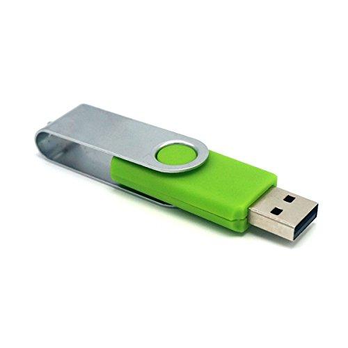 LUCKCRAZY 32GB Chiavetta USB 2.0 Azionamento Chiave Data la Memoria Swivel Fold Pen Drive Verde