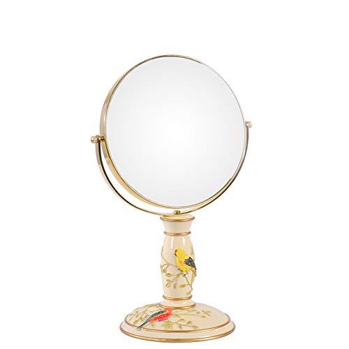 Gwo specchio per il trucco del desktop spaire verticale bifacciale da 7 pollici ordinario e 3 volte ingrandente 2 in 1 specchio girevole a 360 °