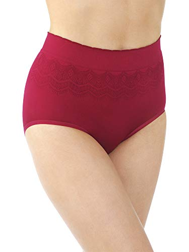 Holly Brief (Vanity Fair Damen Pinch-No Show Seamless Brief Panty 13170 Unterhose, Holly Berry Lace, Large)