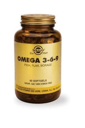 solgar-omega 3-6-9pescado, lino, linolenico, Cápsulas blandas 60