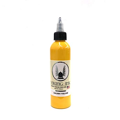den Yellow 4oz (120ml) VIKING INK USA TINTE FÜR TÄTOWIERUNG vegan ()