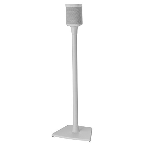 Sanus Wireless Speaker Stand designed for Sonos One, Play:1 and Play:3 - Single (White)