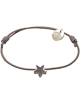 lua accessories Damen Armband Mini Star silber