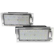 Elenxs 1 Licencia Número Par del Coche LED SMD 3528 Placa de Repuesto para Renault Megane