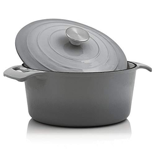 BBQ-Toro - Cocotte I 4,0 litros I Ø 24 cm I Olla con tapa y asas I Hierro Fundido esmaltado I Apto...