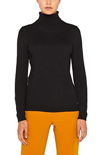 edc by ESPRIT Damen 099Cc1I001 Pullover, Schwarz (Black 001), X-Large (Herstellergröße: XL)