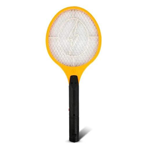 Electric Bug Zapper Batteriebetriebener Handheld Fly Killer-Schläger, Fliegenklatsche am besten für die Schädlingsbekämpfung im Innenbereich (AA-Batterien Nicht enthalten) (Farbe : Gelb)