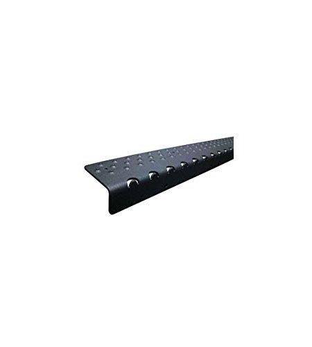 handi-treads rutschfesten Trittfläche Nosing, Pulver, schwarz, 7x 76,2cm