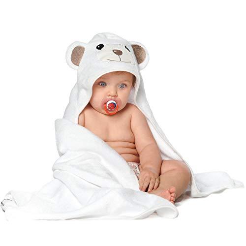 JoJo Asciugamano Orsetto per Bambini EXTRA SOFFICE Asciugamano da Bagno 100% Cotone Naturale Perfetto per la Doccia E Bagnetto dei Bambini Per