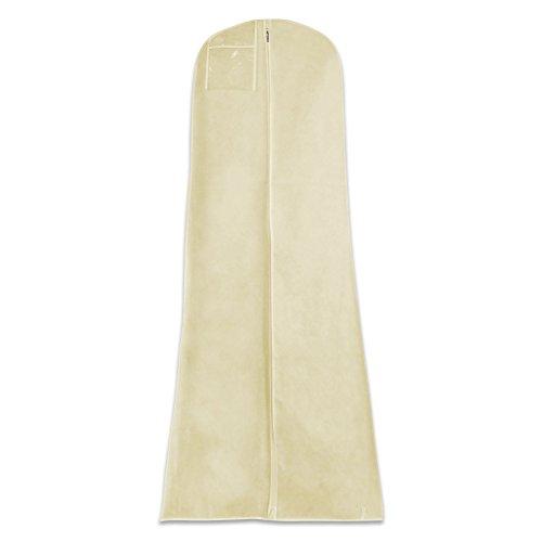 HANGERWORLD Wasserabweisender Kleidersack für Hochzeitskleider - Elfenbein - 183 cm