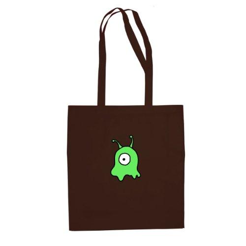 Gehirnschnecke - Stofftasche / Beutel, Farbe: braun (Leela Futurama Kostüme)