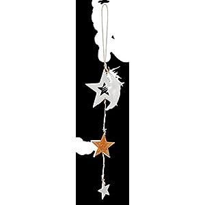 Räder WEIHNACHTSZAUBER Goldsterne Ornament weißer Stern L.:26cm