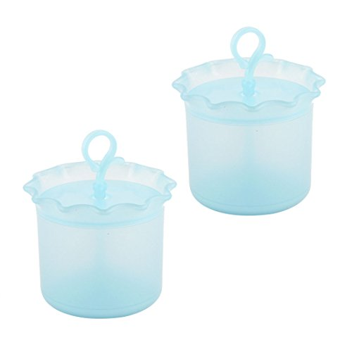 sourcingmap® Dame Face plastique Soins Visage Outil propre Bubble ancienne bouilloire en mousse 2 PCS Bleu