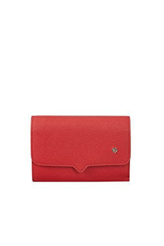 SAMSONITE Miss Journey SLG - Wallet for 12 Credit Cards + Zip Extension Medium Kreditkartenhülle, 0 Liter, Scarlet Red - Kollektion Zip Tote