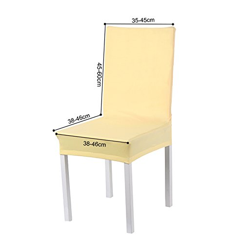 Sundautumn 6 x housse de chaise universelle extensible - Housse chaise haute universelle ...