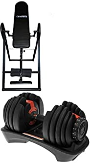 Fitness World Seat for strength training with Adjustable Dumbbells 52.5 Lb