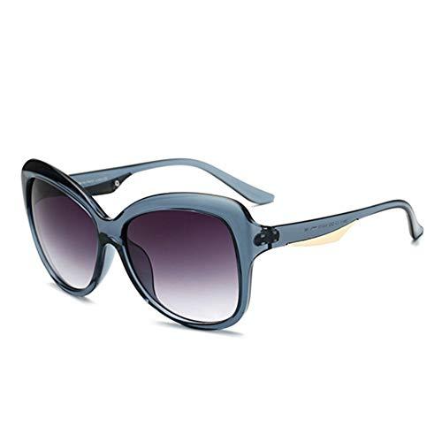 MJDABAOFA Sonnenbrillen,Mode Unisex Cateye Sonnenbrille Blau Grün Rahmen Braun Objektiv Weiblich Jahrgang Cat Eye Sonnenbrille Big Frame Schattierungen Eyewear Männer Frauen Uv400