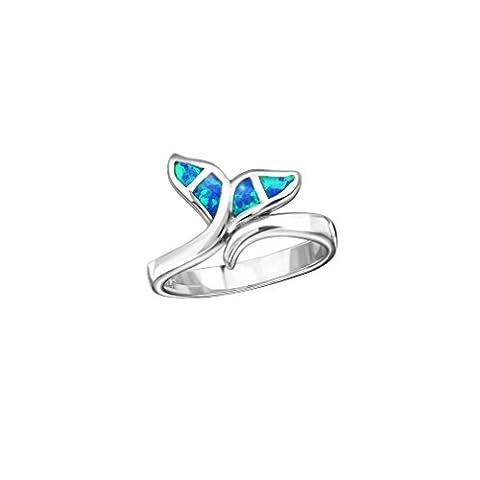Liara - Whale Tail Jeweled Anneaux Argent 925.Poli et sans nickel