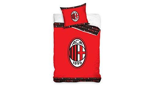 AC Milan - Kinderbettwäsche - 140x200 cm + 1 kissenbezug 70x80 cm - Rot