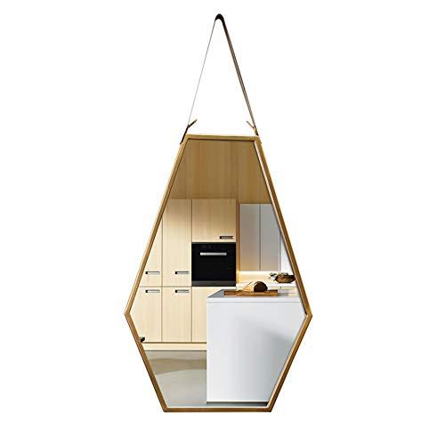 Cqing Decoración Moderna del Arte de la Pared Espejo con Marco Hexagonal de Metal Espejo Decorativo...