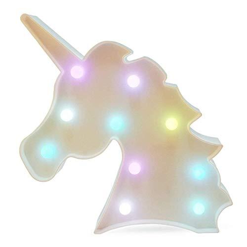 Buntes Einhorn LED Licht Nachtlicht Lampe Wanddeko Deko Schild für Wohnzimmer, Schlafzimmer,...