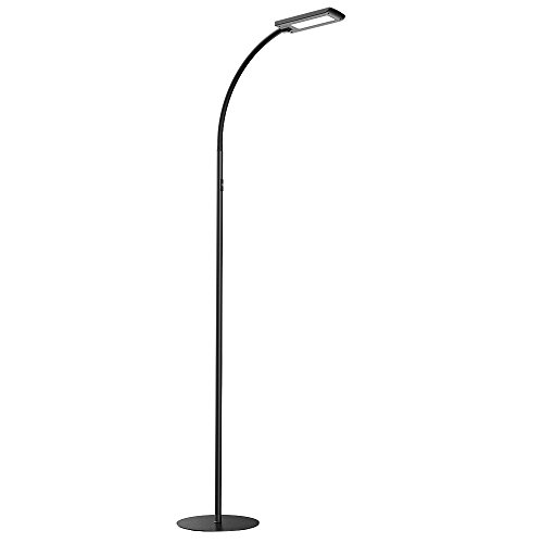 Flexible floor lamp amazon hommini led floor lamp 12w dimmable touch floor standing lamp with 5 brightness levels and memory function eye care bedside lamp with flexible gooseneck mozeypictures Choice Image