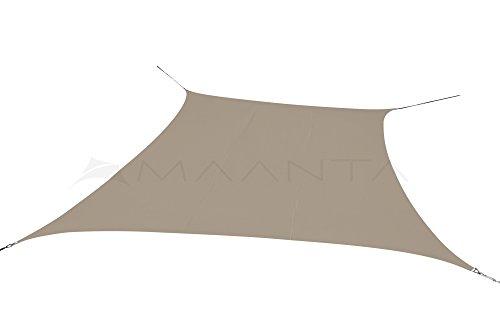 Maanta voile d'ombrage imperméable - Polyester 160gr/m2 - Rectangulaire 4 X 5 Mt. - Gris Tourterelle