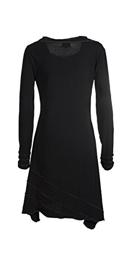 Coline - Robe manches longues style tribal Noir