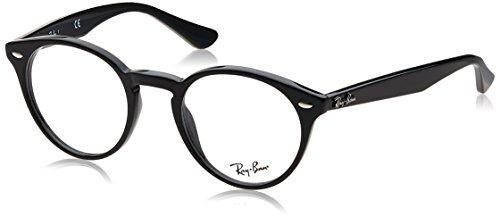 Ray-Ban Herren Brillengestell 0rx 2180v 2000 49, Schwarz (Shiny Black)