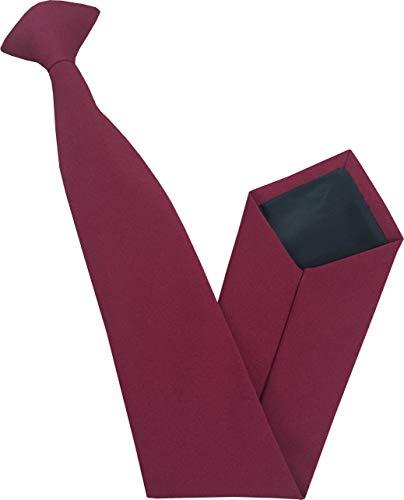 Great British Tie Club Herren Standard Clip auf Krawatten - Verschiedene Farben (Burgundy) Tie Krawatte Krawatten