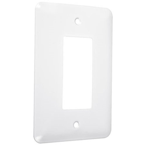 Gang White Decorator (Hubbell-Bell WMW-R Maxi Metallic Wallplate with One Decorator/Rocker, Single Gang, White Smooth by Hubbell Bell)