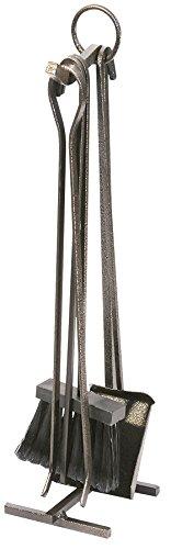 K2calore kt0503–set di 4pezzi per camino, ferro battuto, 22x 58cm