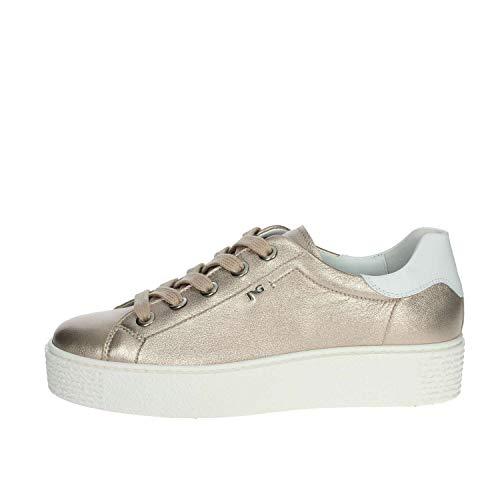 NeroGiardini - Sneaker Platino con Platform