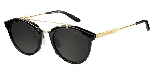 Carrera Herren 126/S NR 6UB Sonnenbrille, Schwarz (Shn Black Gd/Brw Grey), 49