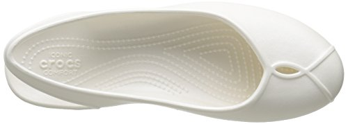 Crocs Olivia II Flat, Ballerines femme Blanc (Oyster)