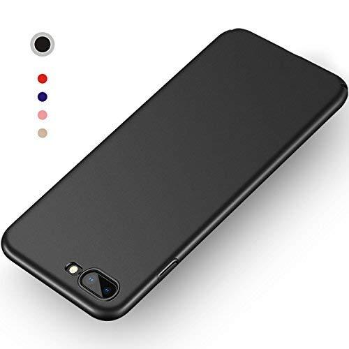 Aollop Hülle für iPhone 7 Plus/iPhone 8 Plus, Ultra Dünn,Staubschutz,Anti-Kratz Schutzhülle, Federleicht Hülle Bumper Cover Schutztasche für iPhone 7 Plus/iPhone 8 Plus(5.5 Zoll Schwarz) - Schwarz Iphone 5 Case Bumper