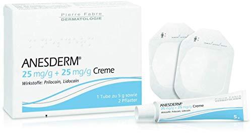 ANESDERM 25 mg/g + 25 mg/g Creme + 2 Pflaster 5 g Creme