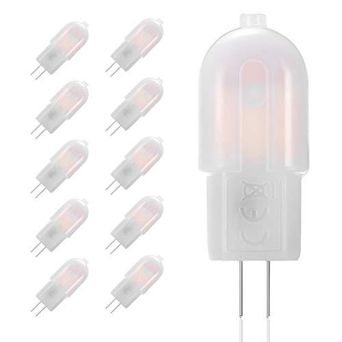 10 ampoules LED quivaut à des ampoules halogènes de 20W, 12V CA/CC, culot G4, angle de faisceau 360 degrés, blanc chaud 3000 K