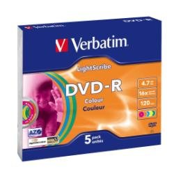 Verbatim 4.7GB DVD-R AZO 16x Lightscribe Colour V1.2