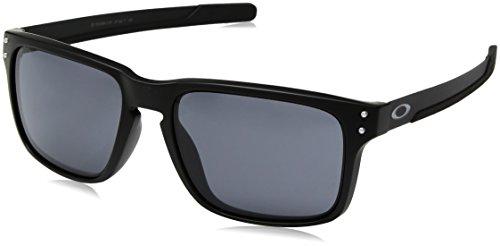 Oakley Herren Holbrook Mix 938401 Sonnenbrille, Braun (Matte Black), 57