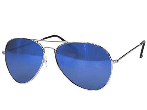 Lunettes de lunettes de soleil miroir Chic-Net unisexe lunettes de soleil aviateur miroir lunettes aviateur teintées porno 400UV vert PghpgYTSd1