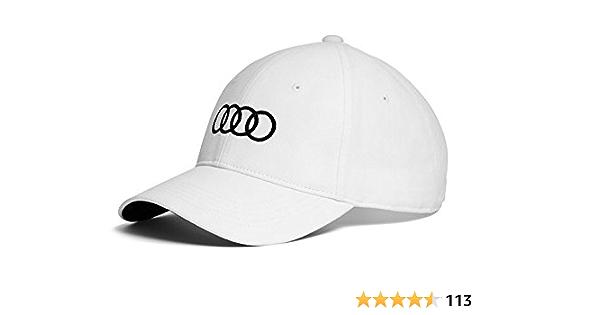 Audi Original Unisex Baseballkappe Weiß Auto