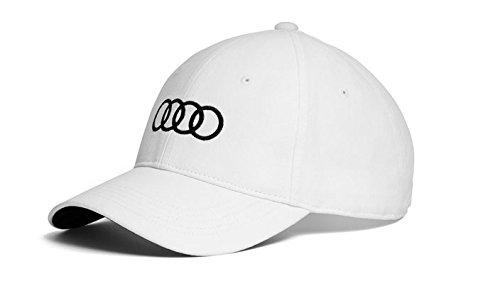 Audi original Unisex Baseballkappe (Weiss) (Audi Cap)