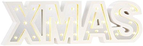 Lunartec Weihnachtsdeko LED: LED-Schriftzug