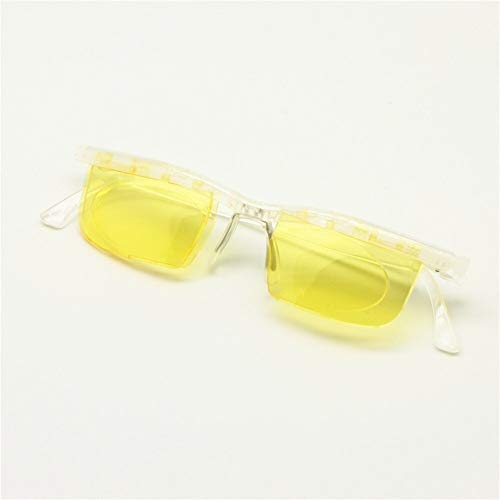Schnittstelle Computer Brillen Fokus Einstellbare Brille Anti Blue Ray -6D Bis + 3D Dioptrien Myopie Vergrößerungsvariable Stärke (Eye Prescription : Variable Focus, Frame Color : Transparent)