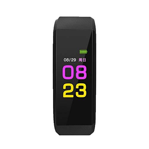 Oldhorse Montre Connectée,Bracelet Connecté Fitness Tracker d'Activité Montre Cardio Sport avec Cardiofréquencemètre,Sommeil,Podomètre,Calories,Mode Multi-Sport pour iPhone Android Femme Homme (Noir)
