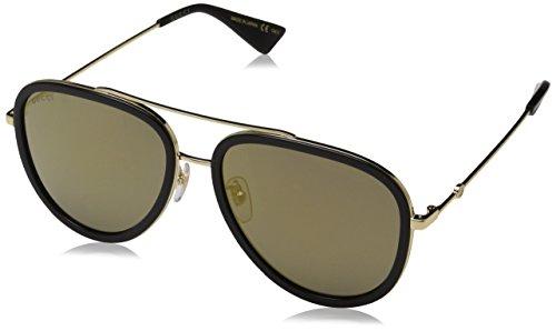 Gucci Damen GG0062S 001 Sonnenbrille, Gold, 57