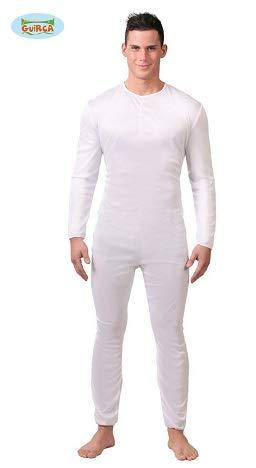 Weißer Einteiler - Kostüm für Herren Gr. M/L, Größe:L