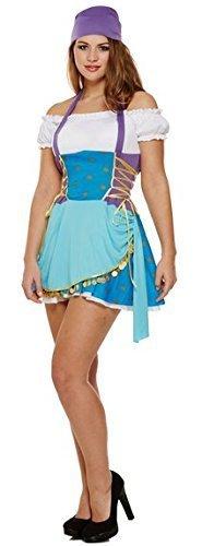 Teller Pirate Fancy Dress Sexy Costume Outfit UK 8 10 12 by Fancy Me (Womens Gypsy Erwachsene Kostüme)